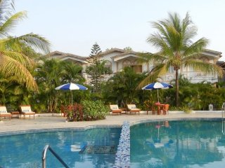 Elegant 2 BHK apartment with a pool in Chorao Island