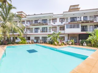 Restful 1BHK with a pool, 1 km from Candolim Beach