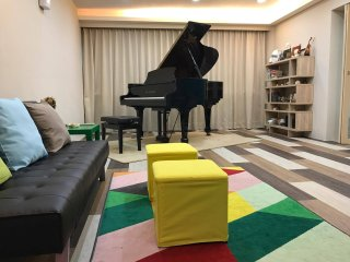 ♪ Elegant Spacious ♪4BR Taipei Music Guest House ♪ SuperHost Rated ♪