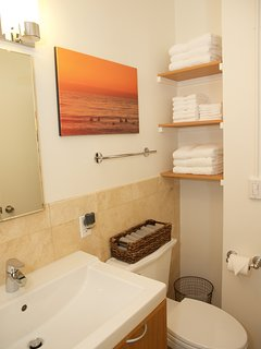 Plenty of plush towels for your stay.  Beach towels are also included for use.