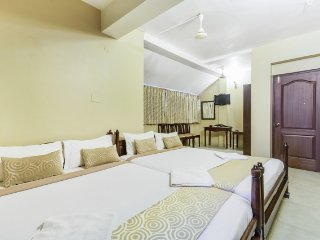 Commodious boutique room for 4, 1.1 km from Calangute beach