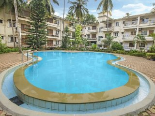 Comfortable 2 BHK with a pool, 1 km from Calangute beach