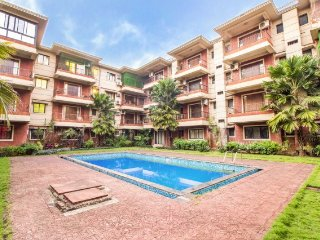 Relaxing 2 BHK apartment for 6, 1.2 km away from Calangute beach
