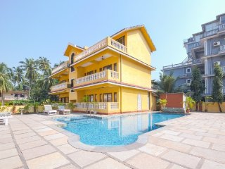 Single bedroom with a shared pool, 3.5 km from Calangute beach