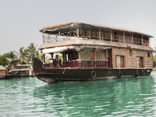 Gracefully designed houseboat offering a lake view