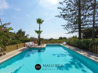 Can Renou Magnifica Villa Rustica Piscina-Barbacoa-Pista Tenis-Levante Mallorca