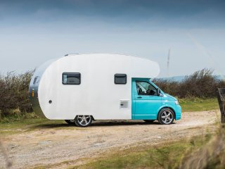 Sir James, luxury campervan hire from Quirky Campers, Huyton