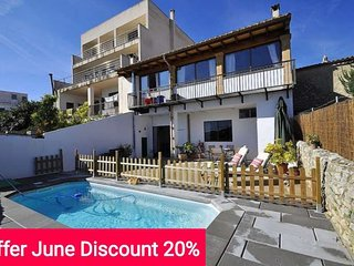 Book for June with 20% Discount! Townhouse for 7 people in Montuiri