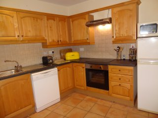 Well equipped kitchen with fridge freezer, dishwasher and microwave