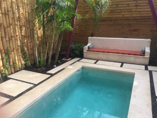 Brand new pool - complete with a hammock, lounger and concrete couch for relaxing!