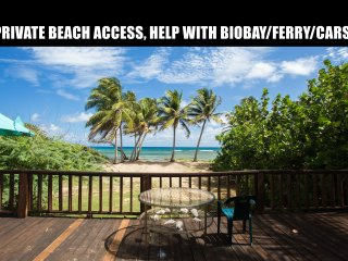 Beach Front House, Direct beach Access up to 16 pp. Cars, Biobay, Ferry help