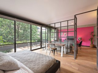 Treetop oasis studio stay in Roma Norte