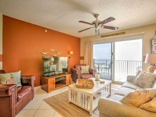 Enjoy the salty ocean aroma that permeates through the open living room as you watch movies on the flat-screen TV.
