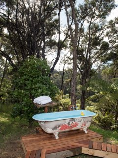 Outdoor bath, privacy uttermost