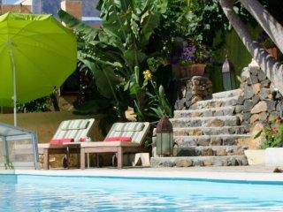 Finca Sambal Haushalfte Papaya 70qm2 Meerblick Pool 5x10m ruhig, chill-out-Mauve