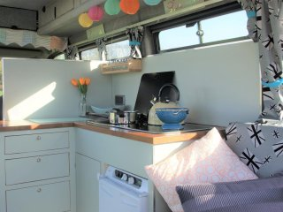 Sally, handmade campervan hire from Quirky Campers