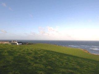 Seascape a cliff top farm Kintyre, Campbeltown