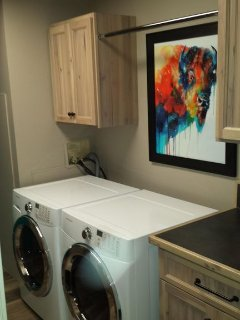 Laundry room with new ex-large front loaders