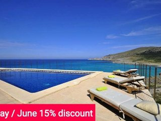 Last Minute 15% May& June 2017. House for 12 people in Cala Mesquida with sea