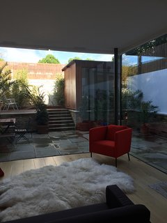 Open Plan living area opening onto private garden