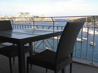 Seafront Apartment with Sea and Valletta Views.