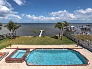 New! Waterfront 9BR Titusville Resort Home w/ Pool