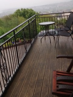 Rainy day on balcony