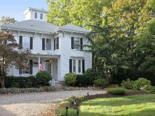 Historic, dog-friendly home & cottage with deck, Right by Main Street & beaches!