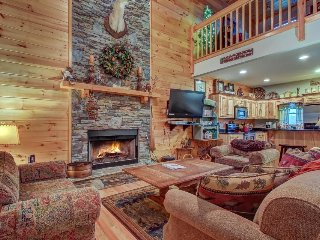 Dog-friendly mtn. views, private hot tub, movie lounge, access to shared pools,