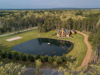 aerial view of the spacious 3 acre property