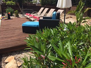 Decking area for sunbathing and chilling.