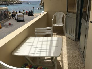 Beach Studio Apartment with views in Xlendi Bay!