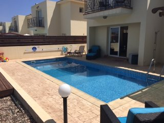 There are 6 sunbeds plus the wicker chairs to relax on outside in villa 8 Crystal Lagoon.