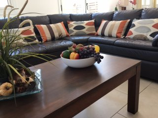 Wonderful comfy corner sofa to relax and watch TV after a hectic day at the beach or by the pool.