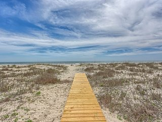 Watch the Dolphins from this Remodeled Gulf Front Home! Pet Friendly Beach!