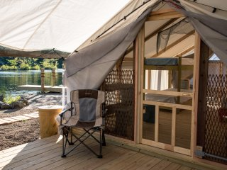 Beach Comber lake side canvas Cottage tent