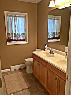 Bathroom on main level next to queen bedroom