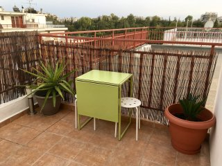 Penthouse with big sunny terrace, air-condition, washing machine   FREE WiFi
