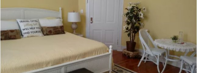 This is the Magnolia bedroom. A king bed with private bath.,