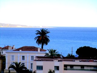 Cannes/Golfe Juan, Sea view, 2 bedrooms, Spacious apartment, Secure and gated