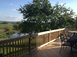 Enjoy the views of the valley from our new deck!