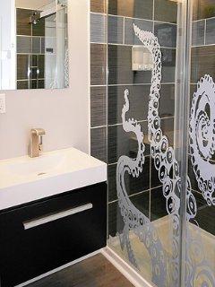 Washroom with shower