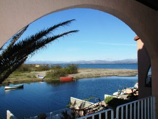 Studio in Le Barcarès, with wonderful lake view and furnished terrace