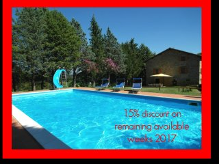 15% DISCOUNT ON REMAINING WEEKS 2017.  Farmhouse sleep 11 -17. Pool & Games Room