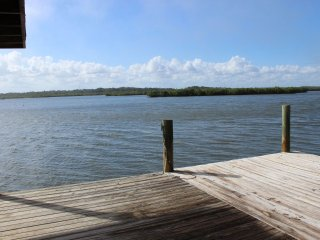 839G - Riverfront home, walk to beach