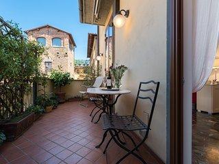Perfect Big Sunny Terrace-Excellent Ponte Vecchio Area-Comfort-Bardi Apartment