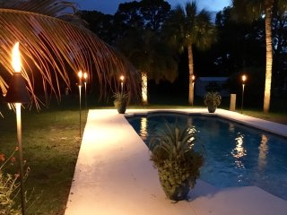 1 Acre Private Paradise Pool Home in PBG, Gated, Quiet, Close to Everything