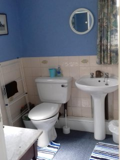 The bathroom was installed into the original porch when mains water arrived to the Fitties.