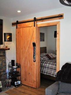 Master Bedroom Barn Door (Old Ski Door Handle)