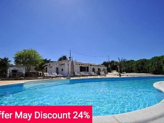 Last Minute offer 24% May 2017. Cozy country house with private pool for 6